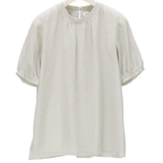アオヤマ(青山)の洋服の青山 トップス 襟シャーリングブラウス グレー 11号(シャツ/ブラウス(半袖/袖なし))
