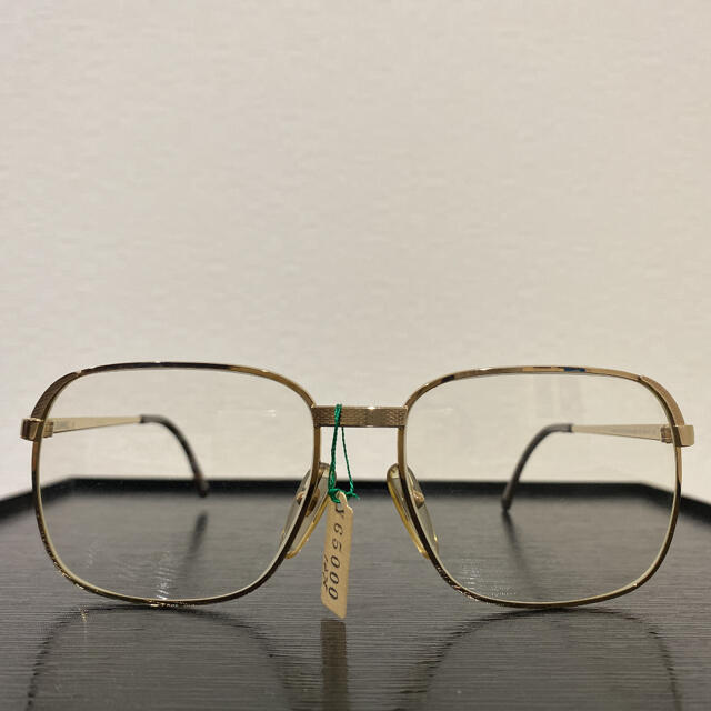 Dunhill(ダンヒル)のDUNHILL ゴールドメガネフレーム メンズのファッション小物(サングラス/メガネ)の商品写真