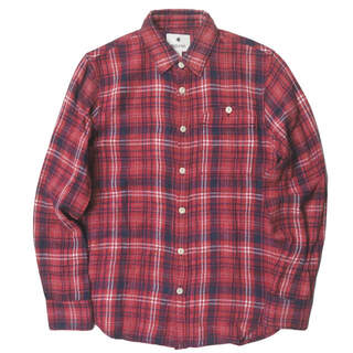 スノーピーク(Snow Peak)のsnow peak スペック染め フランネルチェックシャツ XS メンズ(シャツ)