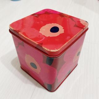 マリメッコ(marimekko)のmarimekko マリメッコ ブリキ缶 ビンテージ アンティーク(収納/キッチン雑貨)