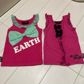 アースマジック(EARTHMAGIC)のEARTHMAGIC トップスset100cm(Tシャツ/カットソー)