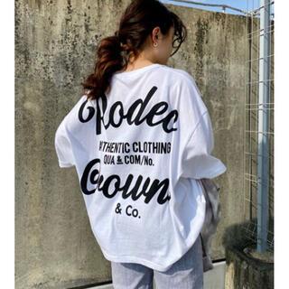 RODEO CROWNS WIDE BOWL - ロデオ ★ ピグメント 5 SLEEVE BIGトップス
