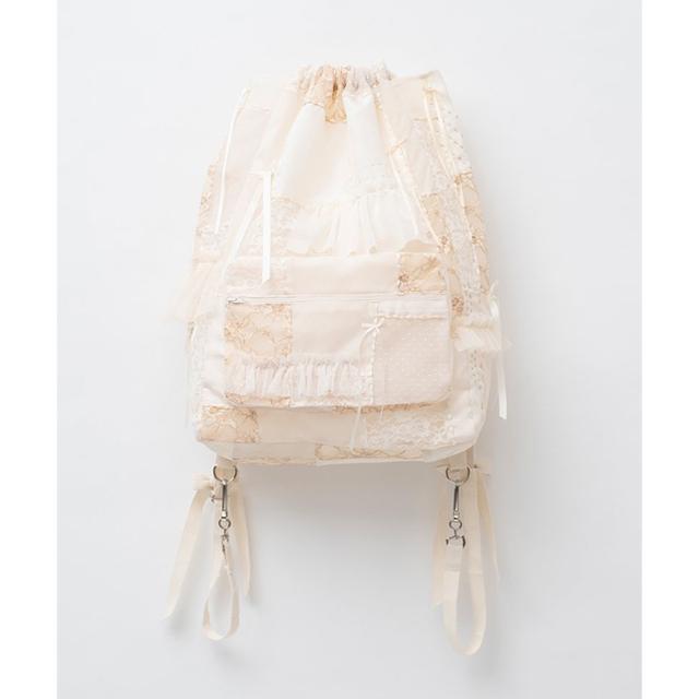 keisuke kanda(ケイスケカンダ)のkeisuke kanda 百徳のナップサック 生成り レディースのバッグ(リュック/バックパック)の商品写真