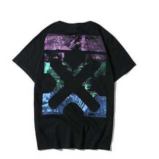 X黒 メンズ レディース Tシャツ オーバーサイズ ペアルック オフホワイト(Tシャツ/カットソー(半袖/袖なし))