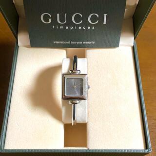 グッチ(Gucci)の【大特価!!】グッチ バングル腕時計 1900L グレー 夏 山や海 旅行🎀(腕時計)
