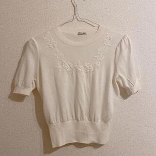 miumiu - miumiu ミュウミュウ トップス 刺繍 サイズ40 即購入◯