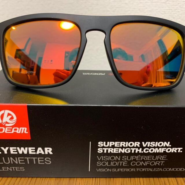 新品未使用♪kdeam最新偏光レンズサングラス オレンジミラーレンズ 即購入可 メンズのファッション小物(サングラス/メガネ)の商品写真