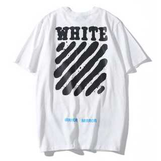 裏文字 メンズ レディース Tシャツ オーバーサイズ ペアルック オフホワイト(Tシャツ/カットソー(半袖/袖なし))