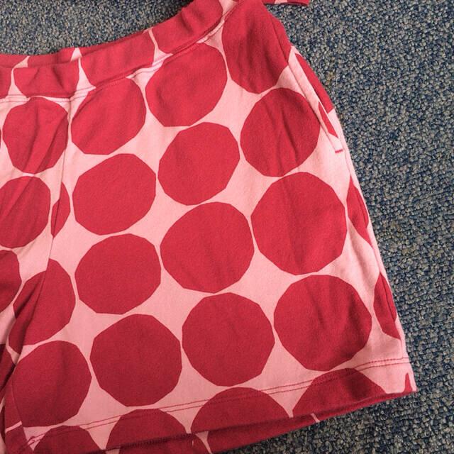 marimekko(マリメッコ)のmarimekko UNIQLO Tシャツとショートパンツのセットアップ キッズ/ベビー/マタニティのキッズ服女の子用(90cm~)(Tシャツ/カットソー)の商品写真