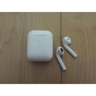 アップル(Apple)のAirpods 第2世代 ワイヤレス充電器付き【中古品】Apple純正品(ヘッドフォン/イヤフォン)