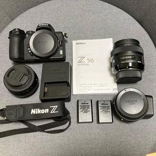 Nikon - Nikon Z50 16-50 FTZ SIGMA 単焦点 予備BT付! ニコン