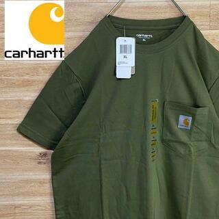 carhartt - ③ 【新品未使用】ワンポイントカーハートCarharttカーキtシャツ半袖XL