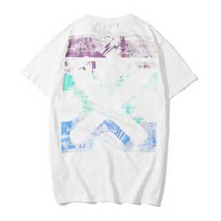 X白 メンズ レディース Tシャツ オーバーサイズ ペアルック オフホワイト(Tシャツ/カットソー(半袖/袖なし))