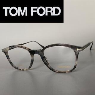 TOM FORD - トムフォード グレー 鼈甲 メガネ FT 黒 日本製 チタン ブラック フルリム