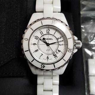 シャネル(CHANEL)のCHANEL★ホワイトセラミックJ12(腕時計)