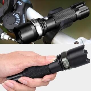 ホルダー&USBケーブル付き 懐中電灯 led USB充電式 防水 アウトドア(その他)
