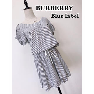 BURBERRY BLUE LABEL - BURBERRY blue label ボーダー ワンピース
