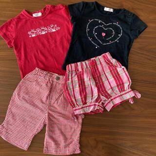 スキップランド(Skip Land)の90 女の子Tシャツとパンツ 4枚組(Tシャツ/カットソー)