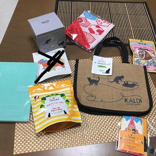 カルディ(KALDI)のカルディKALDIネコの日バッグもへじエコバッグ干支茶ジャンナッツ茶キャニスター(トートバッグ)