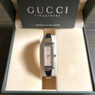 グッチ(Gucci)の【大特価!!】グッチ 1500L GG柄 1Pダイヤ ピンク×シルバー 夏🎀(腕時計)