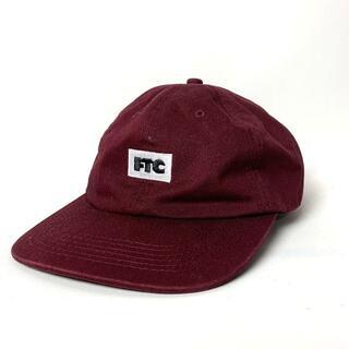 エフティーシー(FTC)の良好 FTC エフティーシー スモールロゴ刺繍 キャップ 帽子 バーガンディ(キャップ)