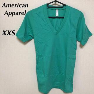 アメリカンアパレル(American Apparel)の未使用!American Apparel 無地Tシャツ エメラルド xxs(Tシャツ/カットソー(半袖/袖なし))