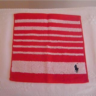 ラルフローレン(Ralph Lauren)のラルフローレン ミニタオル ハンカチ 紅白 赤 白(ハンカチ)