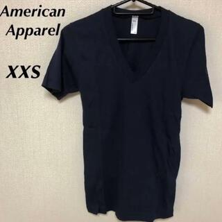 アメリカンアパレル(American Apparel)の未使用!American Apparel 無地Tシャツ ネイビー xxs(Tシャツ/カットソー(半袖/袖なし))