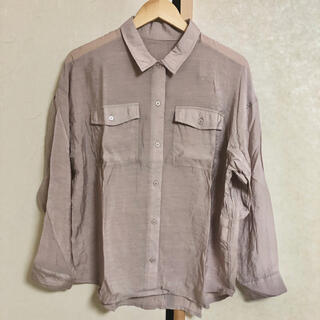 rectangle レクタングル 長袖 シャツ ゆるふわ 冷感(シャツ/ブラウス(長袖/七分))