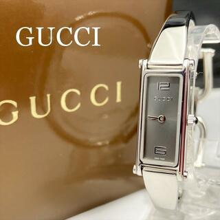 グッチ(Gucci)の新品仕上 新品電池 グッチ GUCCI 1500L 腕時計 バングル グレー(腕時計)