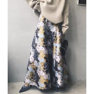 Ameri VINTAGE - アメリヴィンテージ フラワーマーメイドスカート ジャガードスカート