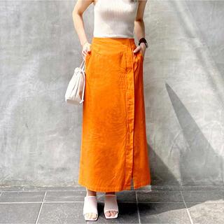Mila Owen - 【新品タグ付き】【2021新作】リネンブレンドタイトスカート【オレンジ】