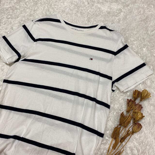 TOMMY HILFIGER(トミーヒルフィガー)のtommy ボーダーTシャツ メンズのトップス(Tシャツ/カットソー(半袖/袖なし))の商品写真