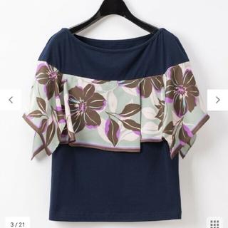 GRACE CONTINENTAL - 20SS グレースコンチネンタル アシメフラワースカーフTシャツ
