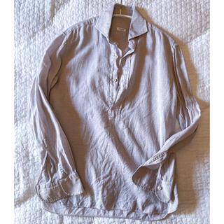 オリアン(ORIAN)のORIAN カプリシャツ コットンリネン ベージュ イタリア製(シャツ)