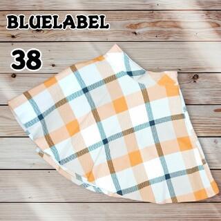 バーバリーブルーレーベル(BURBERRY BLUE LABEL)のBLUELABEL ミディフレアスカート ノバチェック(ひざ丈スカート)
