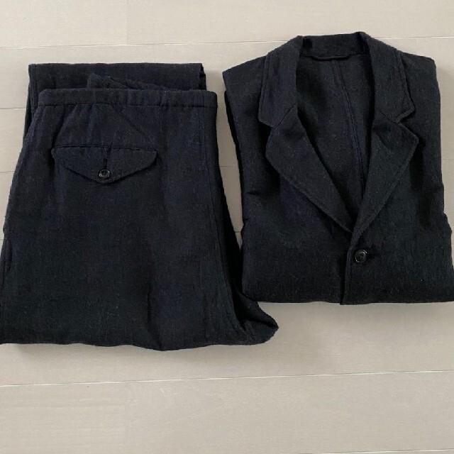 COMOLI(コモリ)のCOMOLI コモリ 20AW ウールシルクセットアップ チャコール サイズ2 メンズのスーツ(セットアップ)の商品写真