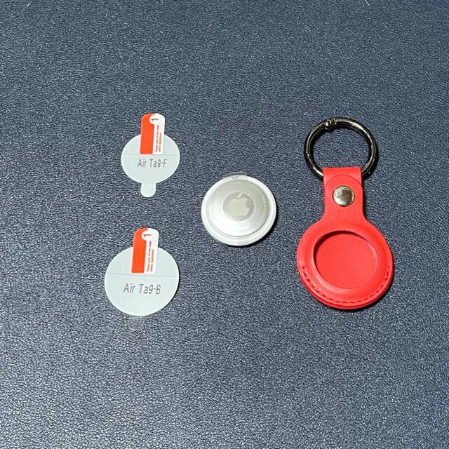 AirTag本体(正規品)  ケース フイルム エアタグ キーリング 赤 スマホ/家電/カメラのスマホアクセサリー(その他)の商品写真