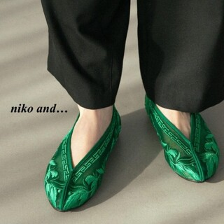 niko and... - 新品 niko and … チュールフラットパンプス