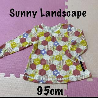 サニーランドスケープ(SunnyLandscape)のSunny Landscape 花 チュニック 95 カラフル 水玉 綿100%(Tシャツ/カットソー)