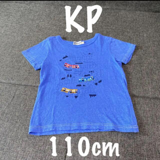 KP - KP Boyニットプランナー  電車 Tシャツ 110cm ブルー 綿 日本製