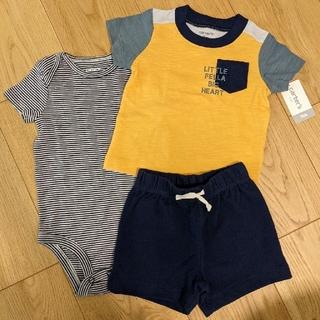 carter's Tシャツ ロンパース ハーフパンツ 3ピースセット 新品未使用
