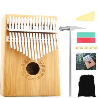 カリンバ 17キー C調 親指ピアノ Kalimba アフリカ楽器 操作簡単(その他)