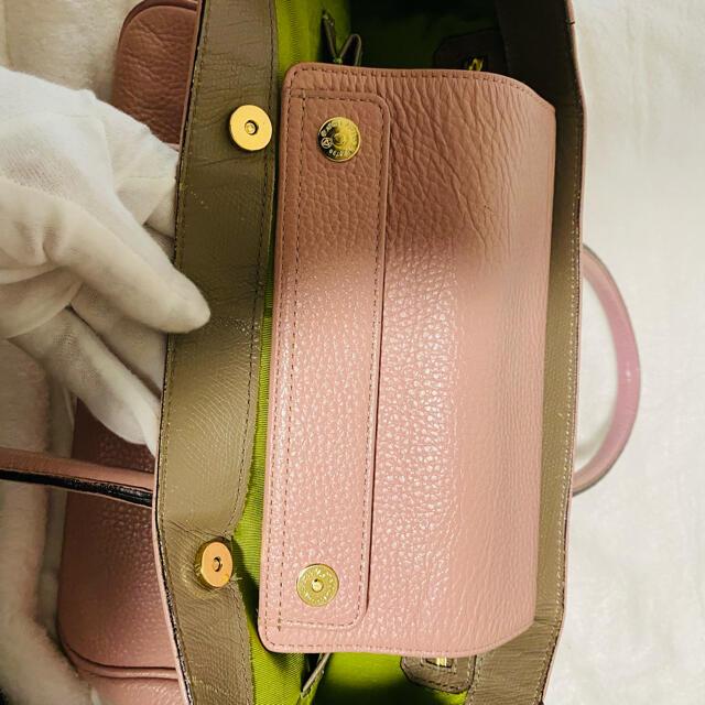 A.D.M.J.(エーディーエムジェイ)の【良品】A.D.M.J エーディエムジェイ レザートートバッグ ピンク レディースのバッグ(トートバッグ)の商品写真