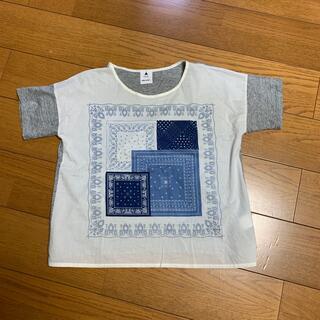 ニコアンド(niko and...)のniko and... バンダナ柄トップス 半袖(Tシャツ(半袖/袖なし))