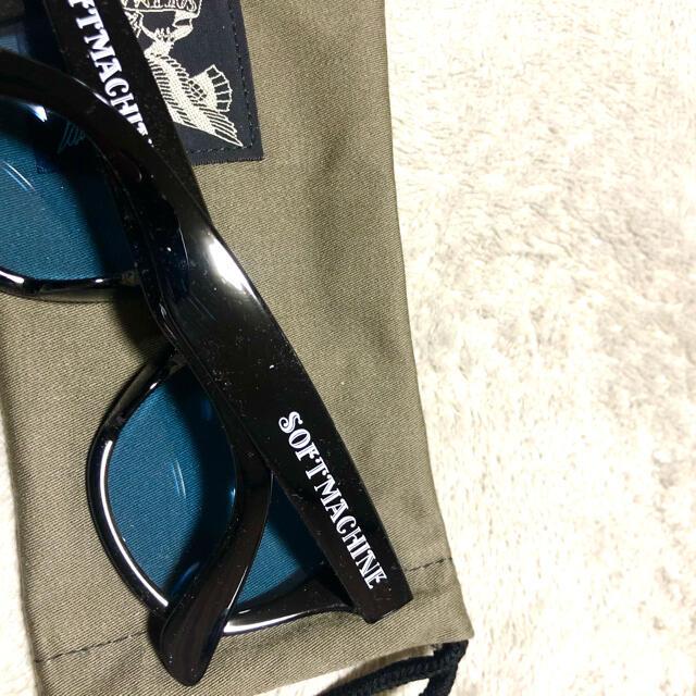 SOFTMACHINE サングラス ソフトマシーン ブラック×ブルー 未使用 メンズのファッション小物(サングラス/メガネ)の商品写真