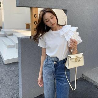 Ameri VINTAGE - 新品未使用品!送料込み!バースデーバッシュアシメフリルTシャツ
