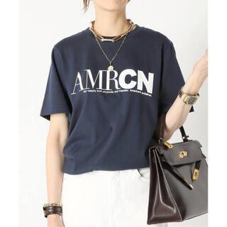 DEUXIEME CLASSE - 【AMERICANA/アメリカーナ】 AMRCN Tシャツ   ネイビー