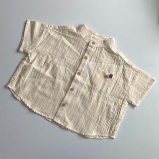 futafuta - 新品未使用 テータテート  バンドカラー 半袖 シャツ 80