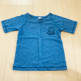 スキップランド(Skip Land)のブルー スマイリー 刺繍 トップス Tシャツ 130(Tシャツ/カットソー)